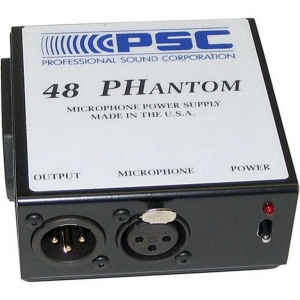 48V Phantompower til 9V batteri