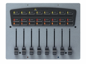 A&H iDR Fader panel 8 Fader, 16 Switch, 25 LED PL-ANET