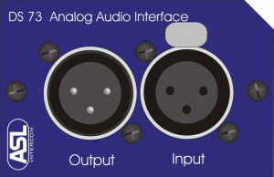 ASL DS73A Audio in/out interface modul