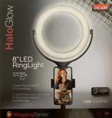 """On Air Halo glow 8"""" LED ring light"""